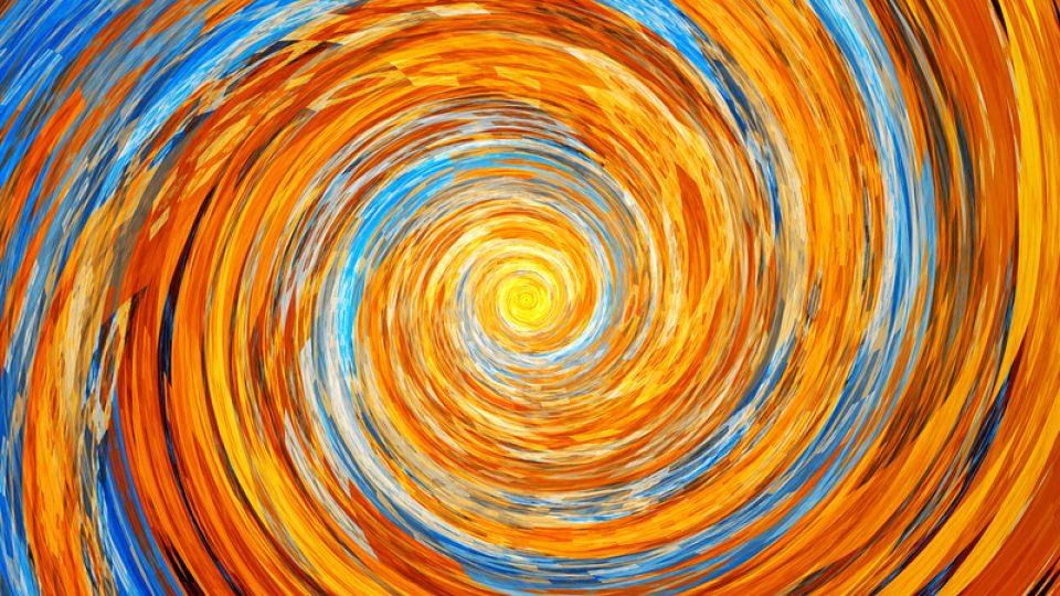 Colorful spiral fractal