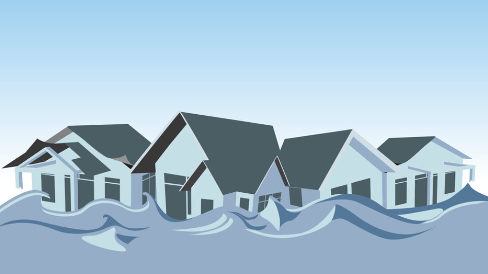 Flooded homes – Illustration