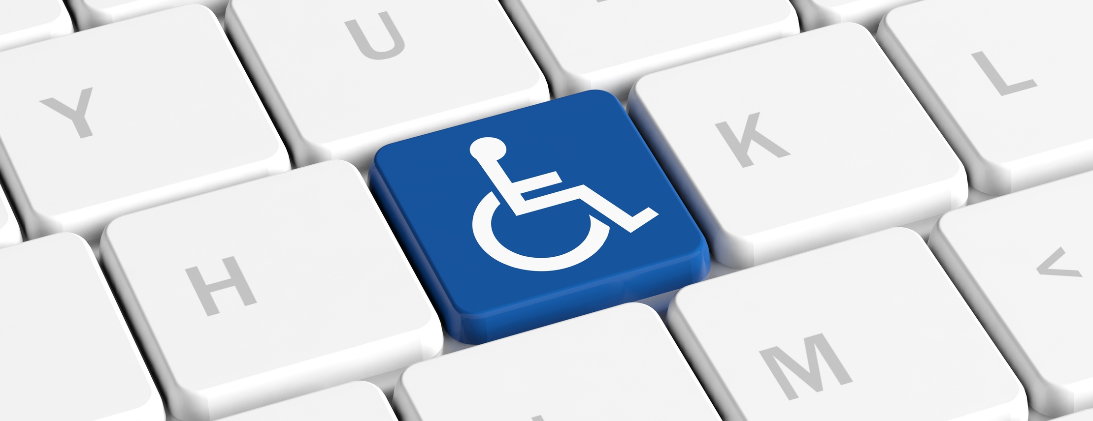 Accessibility image, keyboard with wheelchair icon