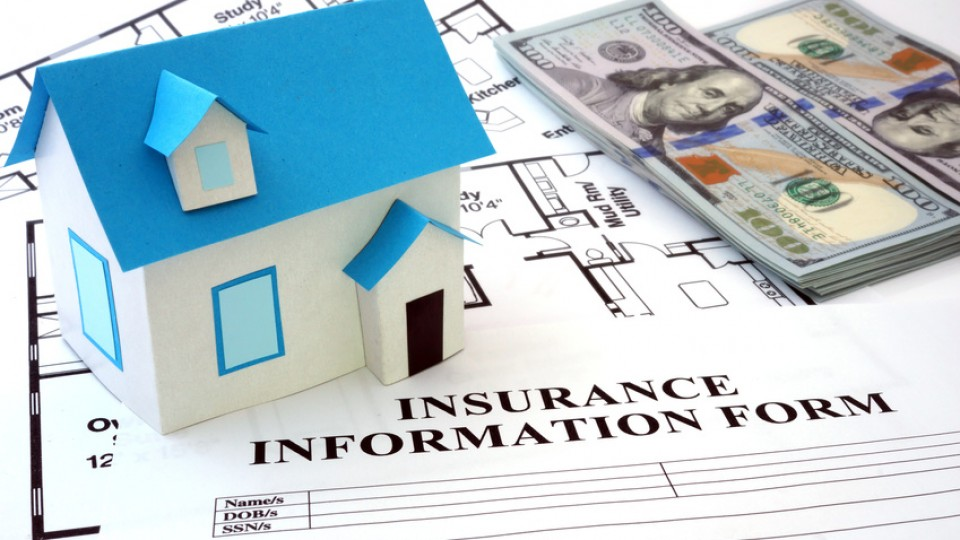 House insurance form with model house