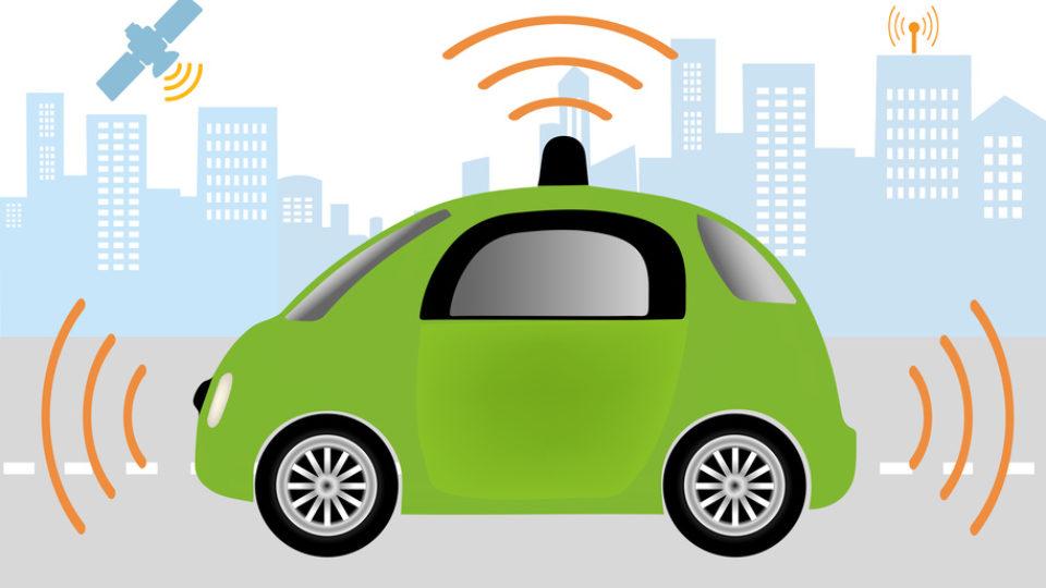 Autonomous Driverless Car. Intelligent controlled car, smart navigation.Automobile sensors use in self-driving cars .